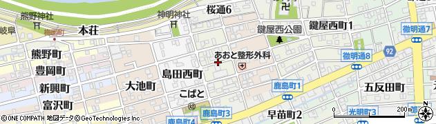 岐阜県岐阜市島田中町周辺の地図