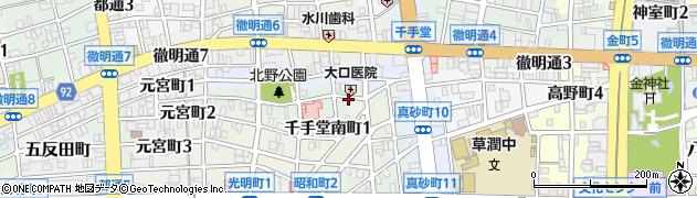 岐阜県岐阜市千手堂中町周辺の地図