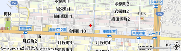 岐阜県岐阜市雪見町周辺の地図