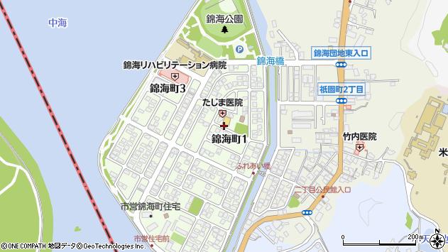 〒683-0825 鳥取県米子市錦海町の地図