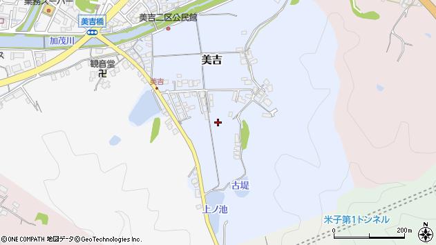 〒683-0034 鳥取県米子市美吉の地図