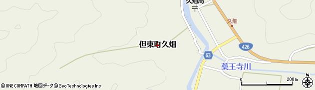 兵庫県豊岡市但東町久畑周辺の地図