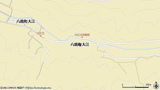 〒667-0015 兵庫県養父市八鹿町大江の地図