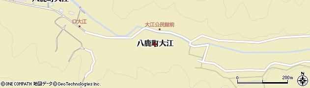 兵庫県養父市八鹿町大江周辺の地図