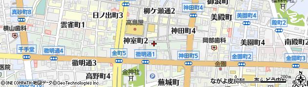 岐阜県岐阜市神室町周辺の地図