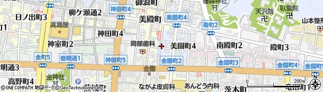 岐阜県岐阜市一番町周辺の地図