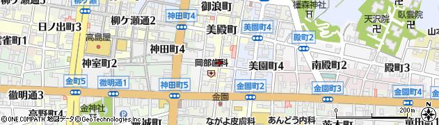 岐阜県岐阜市二番町周辺の地図