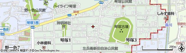 岐阜県岐阜市琴塚周辺の地図