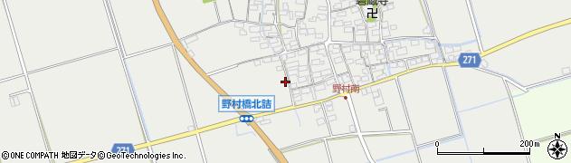 滋賀県長浜市野村町周辺の地図