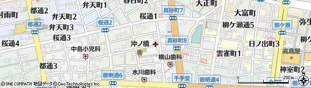 岐阜県岐阜市柳川町周辺の地図