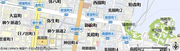 岐阜県岐阜市御浪町周辺の地図