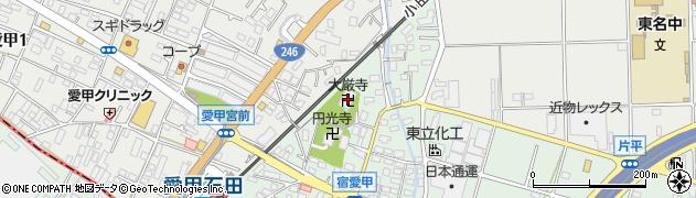 大厳寺周辺の地図