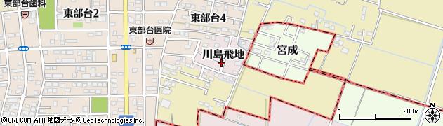 千葉県茂原市川島飛地周辺の地図