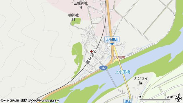 〒667-0004 兵庫県養父市八鹿町上小田の地図