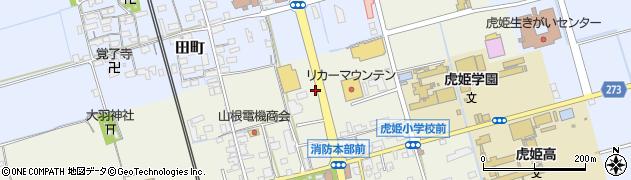滋賀県長浜市五村周辺の地図