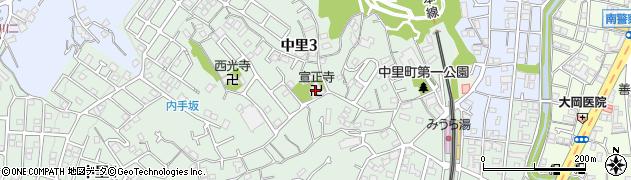 宣正寺周辺の地図