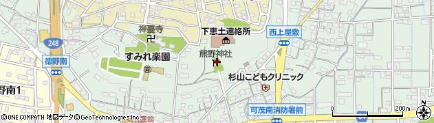 熊野神社周辺の地図
