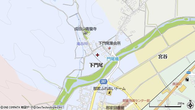 〒680-0421 鳥取県八頭郡八頭町下門尾の地図