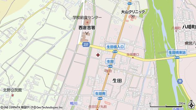 〒682-0855 鳥取県倉吉市生田の地図