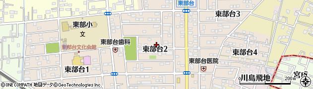 千葉県茂原市東部台周辺の地図