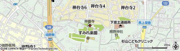 禅臺寺周辺の地図