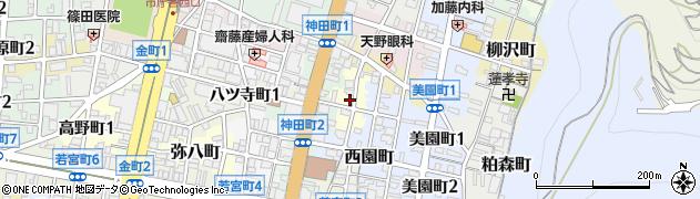 岐阜県岐阜市高岩町周辺の地図