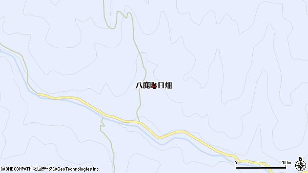 〒667-0052 兵庫県養父市八鹿町日畑の地図