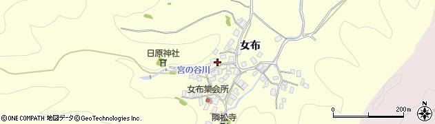 京都府舞鶴市女布周辺の地図