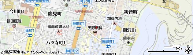 岐阜県岐阜市朝日町周辺の地図