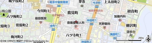 岐阜県岐阜市江川町周辺の地図