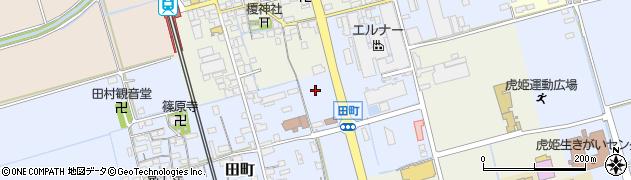 滋賀県長浜市田町周辺の地図