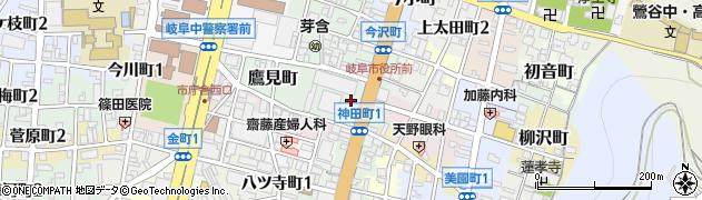 岐阜県岐阜市今沢町周辺の地図