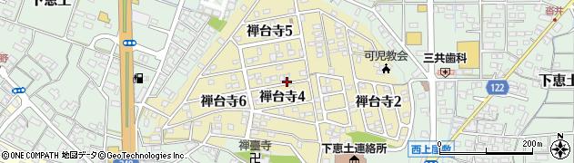 岐阜県可児市禅台寺周辺の地図