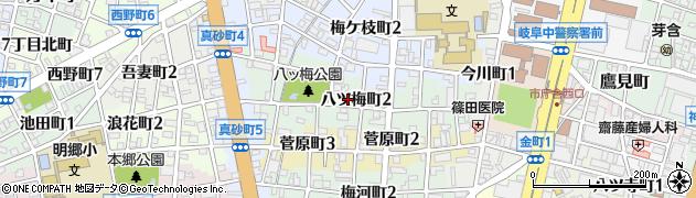 岐阜県岐阜市八ツ梅町周辺の地図