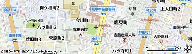 岐阜県岐阜市明徳町周辺の地図