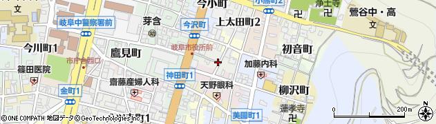 岐阜県岐阜市下太田町周辺の地図