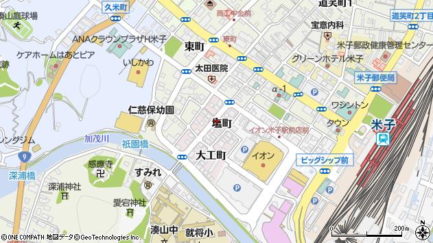 〒683-0042 鳥取県米子市塩町の地図