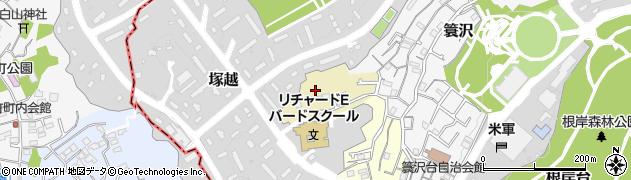 神奈川県横浜市中区塚越周辺の地図