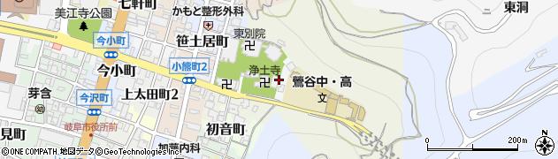 岐阜県岐阜市鴬谷町周辺の地図