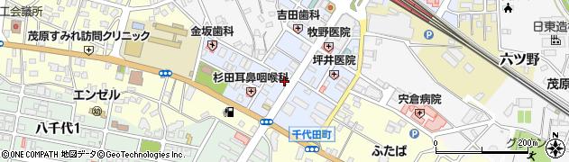 千葉県茂原市千代田町周辺の地図