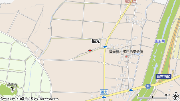 〒682-0944 鳥取県倉吉市福光の地図