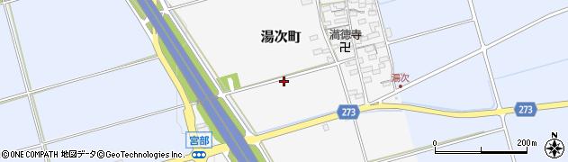 滋賀県長浜市湯次町周辺の地図
