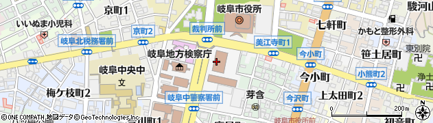 岐阜県岐阜市美江寺町周辺の地図