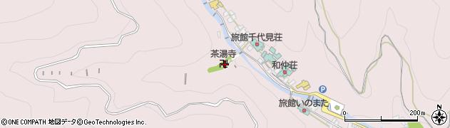 茶湯寺周辺の地図