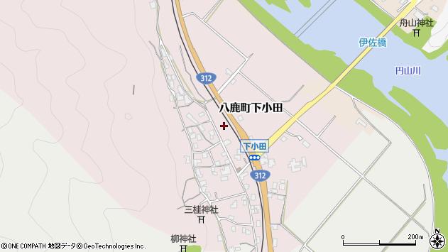 〒667-0005 兵庫県養父市八鹿町下小田の地図