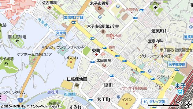 〒683-0067 鳥取県米子市東町の地図