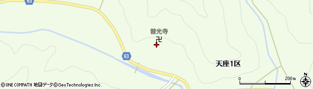 普光寺周辺の地図