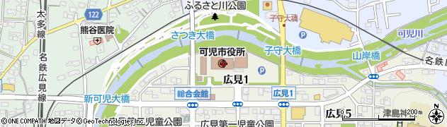 岐阜県可児市周辺の地図