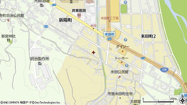 〒682-0814 鳥取県倉吉市米田町の地図