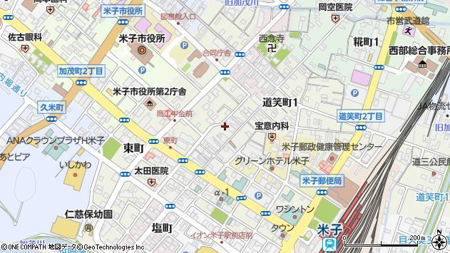 〒683-0066 鳥取県米子市日野町の地図